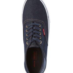 Levi's Shoes - LEVI'S Navy Monterey Denim Low-Top Sneakers SZ-13